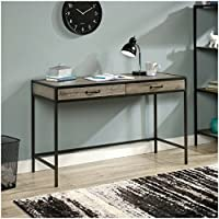 Classic Design Mainstays Stylish Metro Home Office Desks with Two Drawers (Grey Oak)
