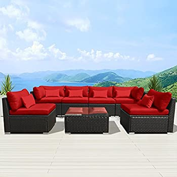 amazon com outsunny 14pc outdoor pe rattan wicker sectional