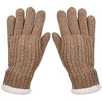 SUNNYTREE Women's Winter Gloves Wool Knit Warm Fleece Lining
