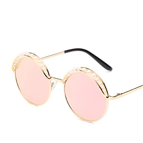 HONG Occhiali da sole la perla rotonda testata moda occhiali da sole e personalità. B1eX3