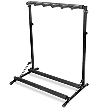 Gorilla 5 Way Multi Guitar Stand Foldable Acoustic Electric Bass Rack