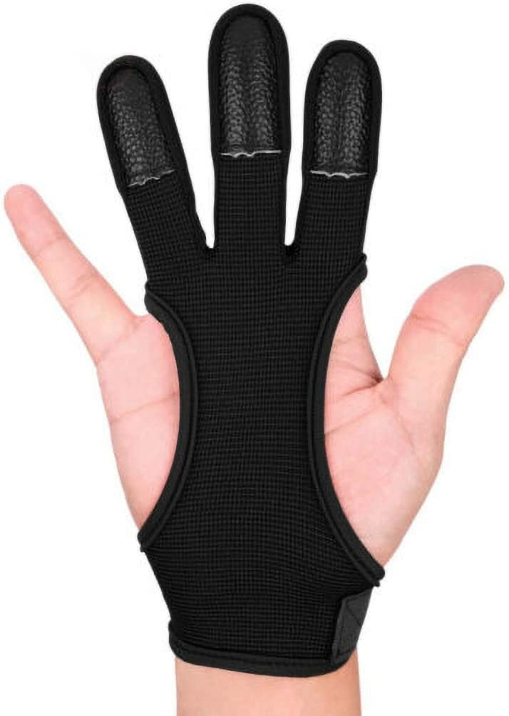 ZERIRA Archery Gloves Three Finger Athletic Archery Aloves Protect Fingers for Young Children Beginners