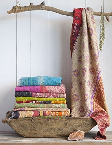 10 Pcs Lot of indian tribal kantha quilt Vintage Cotton Bed cover Wholesale balnket by Craft N Craft India by Craft N Craft India