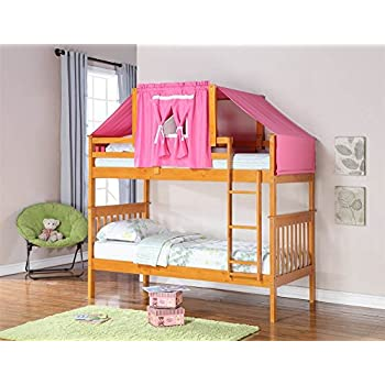 Amazon Com Donco Kids Twin Over Twin Mission Bunk Bed