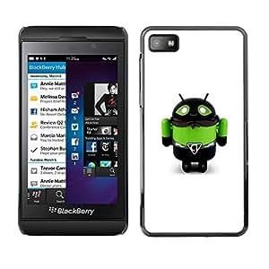 For Blackberry Z10 Case , Toy Robot Green Bee Monster Man - Diseño Patrón Teléfono Caso Cubierta Case Bumper Duro Protección Case Cover Funda