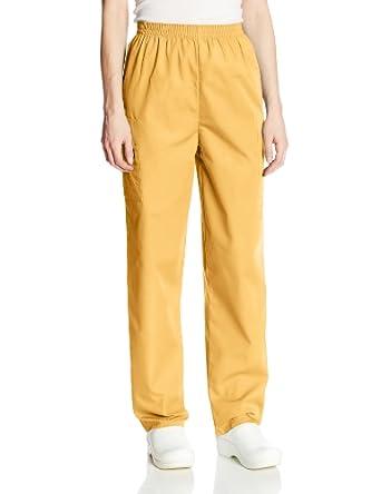 1589c044fa6 Cherokee Women's Workwear Scrubs Pull-On Cargo Pant (Size 2X-5X),  Dandelion, 5X-Large: Amazon.in: Amazon.in
