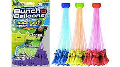 Zuru Bunch O Balloons Instant 100 Self-Sealing Water Balloons Complete 2 Pack Gift Set Bundle (200 Balloons)