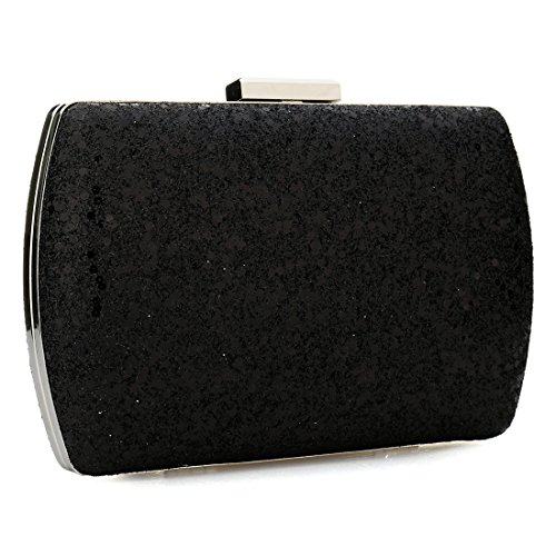 Evening Black Clutch Women Clutch Ladies Bag for Purses Bag Sparkly Clutch Sequin Glitter Wedding 7qXOIO
