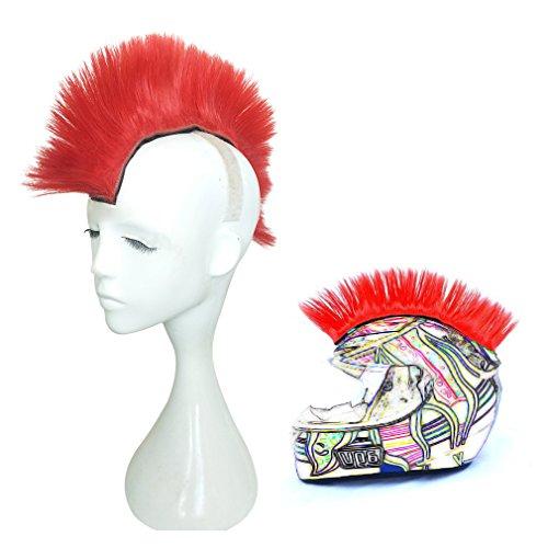 Namecute Skinhead Wig Red Helmet Mohawk Wig Costumes Hairpiece (Snowboard Red Helmet)