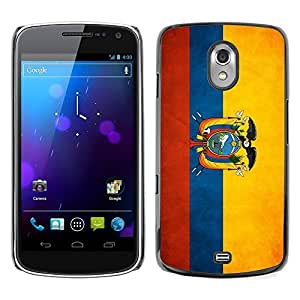 Shell-Star ( National Flag Series-Ecuador ) Snap On Hard Protective Case For SAMSUNG Google NEXUS / I9250