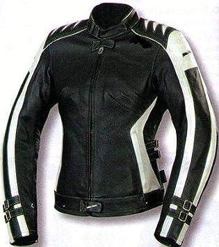 Karno Kc015 - Chaqueta para moto de mujer, de piel, ajustada ...