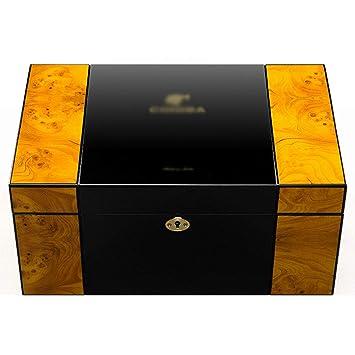 AILIWEIYJ Humidores de cigarros y gabinetes para cigarros, Madera de Cedro, Gran Capacidad, Pintura de Piano portátil, colección Premium, ...