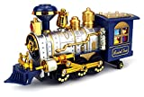 #1: Classical Locomotive Battery Operated Bump and Go Toy Train w/ Smoking Action, Real Train Horn, Working Headlight (Colors May Vary)