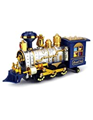 Classical Locomotive Battery Operated Bump and Go Toy Train w...