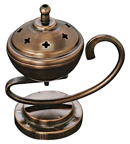 StealStreet SS-IA-BB123 4.25 inch Iron Genie Style Incense Burner