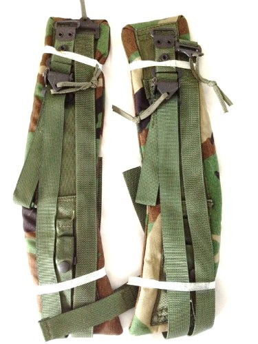 Alice Pack Shoulder Straps - Military Surplus Army ALICE Field Pack Quick Release Shoulder Straps Woodland