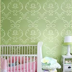 Stencil pattern Simple Rhyme - Reusable stencils for DIY nursery kids room decor