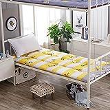 Lovehouse Portable Sleep Mattress Topper, Japanese Futon Tatami Floor mat Sleeping,Premium Mattress pad-Hypoallergenic-Yellow 90x200cm(35x79inch)