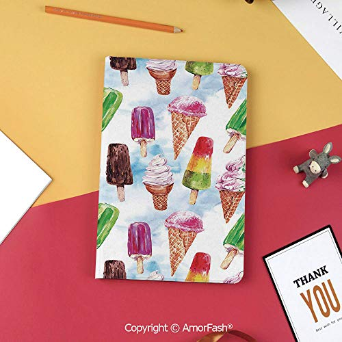Case for Samsung Galaxy T820 T825 Slim Folding Stand Cover PU Tab S3 9.7,Ice Cream Decor,Surreal Exotic Type of Ice Cream Motif with Raspberry Kiwi Flavor Display,Multicolor