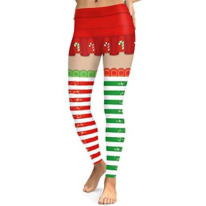 6fae662d146 Joint Leggings Women s Christmas Print Leggings - Yoga Workout Legging Xmas  Super Soft Running Yoga Pants