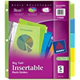 Avery  Big Tab Insertable Plastic Dividers, 5-Tabs, 1 Set (11900)
