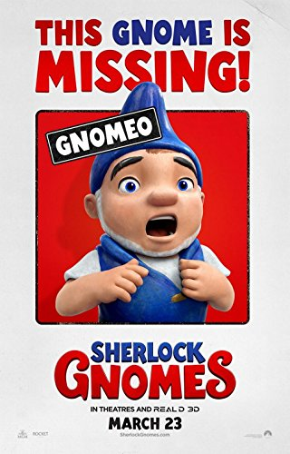 (SHERLOCK GNOMES (2018) Original Authentic Movie Poster 27x40 - Double - Sided - Johnny Depp - Emily Blunt - James McAvoy )