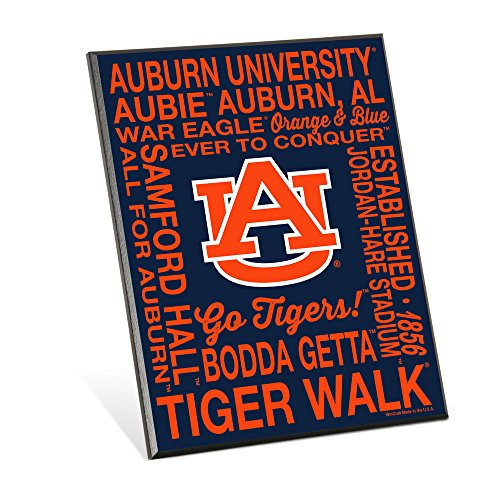 NCAA Auburn Tigers Phrase Wood Easel Sign, 8 x 10