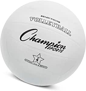 Rubber Volleyball, Official Size, for Indoor and Outdoor Use - Durable, Regulation Volleyballs for Beginners, Competitive, Recreational Play - Premium Volleyball Equipment - White, VR4