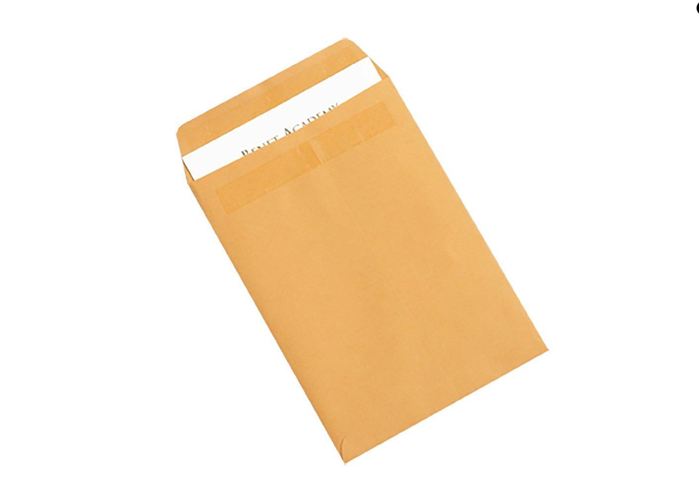 RetailSource E131001KR50 Kraft Redi Seal Envelopes 13 x 10 x 1 Brown Pack of 50