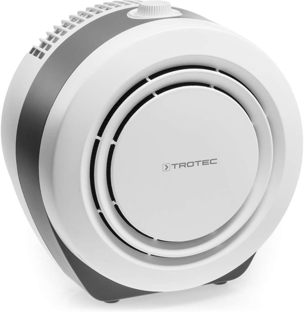 TROTEC Purificador de aire Design AirgoClean 10 E con filtro HEPA, 3 Niveles, Adecuado para habitaciones de hasta: 20 m², Contra Alérgenos, Silencioso, Compacto