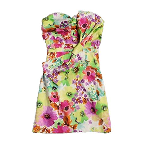 Multi Party s Strapless Sheath Dress Fashion Women Print CA Floral FwnqSTgzx