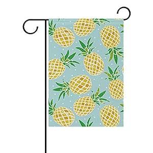 ALAZA - Bandera de jardín de poliéster para decoración de boda, fiesta, hogar, decoración con lunares, color amarillo