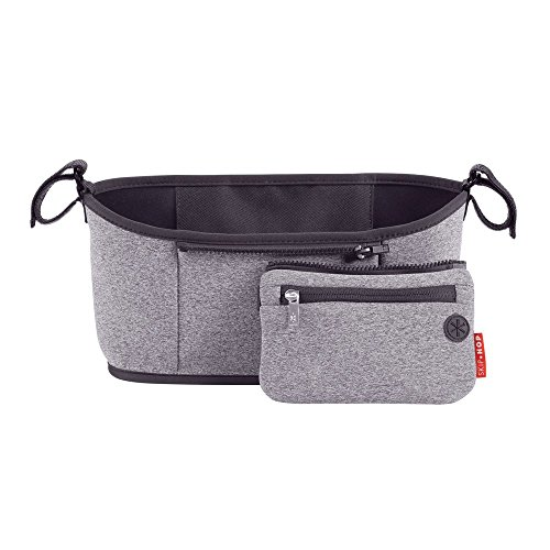 Skip Hop Stroller Organizer with Cup Holders, Grab & Go, Heather Grey