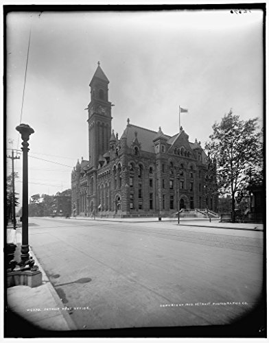 Vintography 40 x 30 Ready to Hang Canvas Wrap Detroit Post Office 1900 Detriot Publishing 83a by Vintography (Image #1)