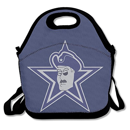 DAL Cowboys Carters Lunch Bags Lunch Tote Bag School Grocery Bags For Travel And Picnic Insulated Waterproof 100% Polyester Lunch Box For Women, Adults, Kids, Girls, And Teen (Lone Cowboy Adult Costume)