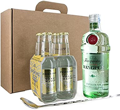 PACK GIN TONIC TANQUERAY RANGPUR CON TONICA FEVER TREE: Amazon.es ...