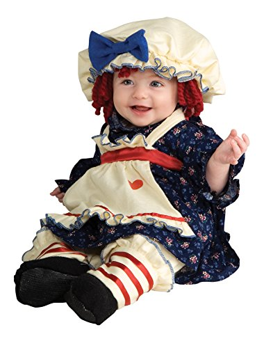 Girls Ragamuffin Dolly Kids Child Fancy Dress Party Halloween Costume, S (4-6)