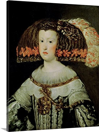 Portrait of Queen Maria Anna (1635-96) of Spain (oil on canvas) Gallery-Wrapped Canvas by greatBIGcanvas