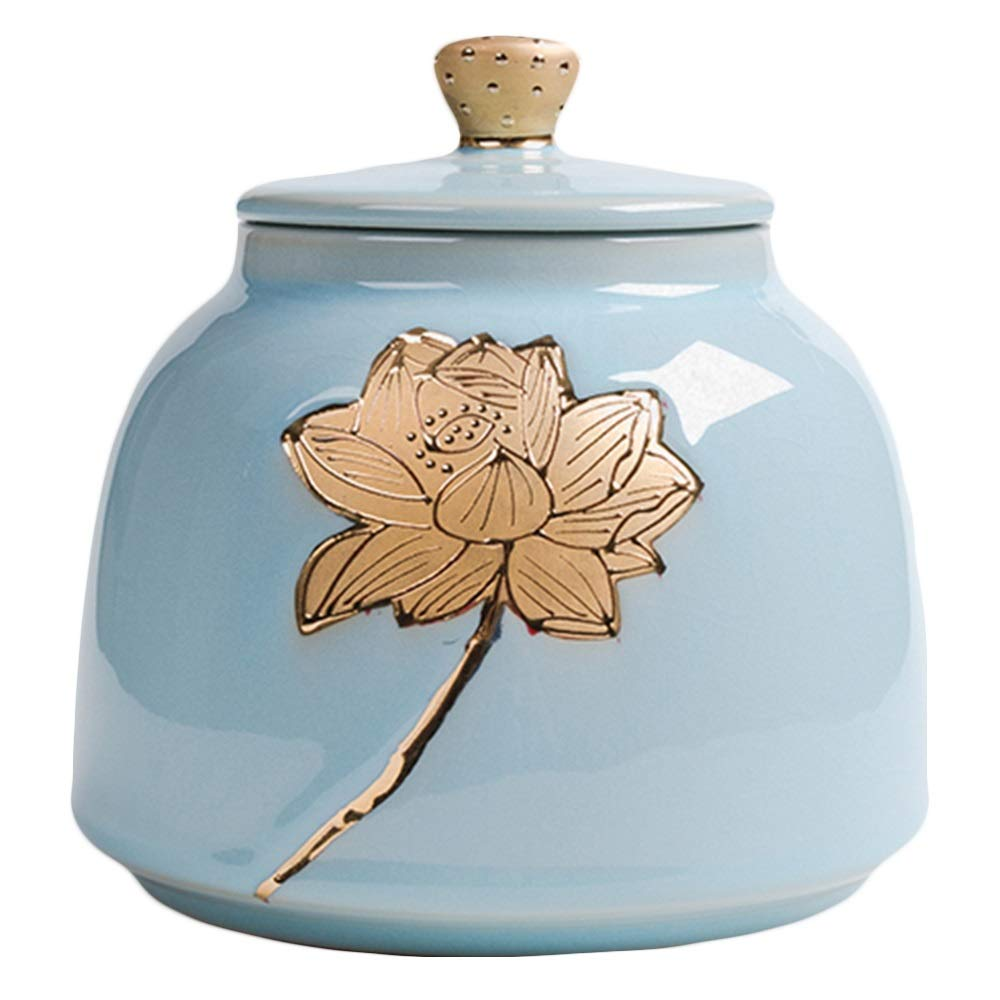 C LIDH Urns Lotus Small Capacity Casket Memorial Pet Cremation Ashes Of Three Models (Design   B)