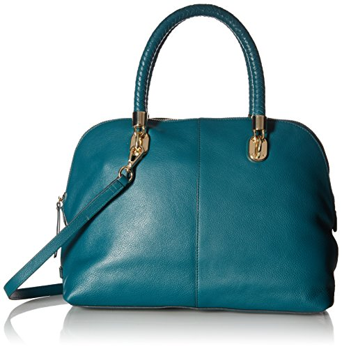 Cole Haan Top Zip Satchel - Cole Haan Benson Large Dome Satchel, Peacock