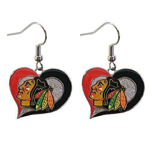 chicago blackhawks earrings blackhawks earrings