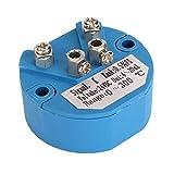 CNBTR Plastic Blue DC 24V K Type Temperature Sensor Converter Transmitter 0-300C 4-20mA Output