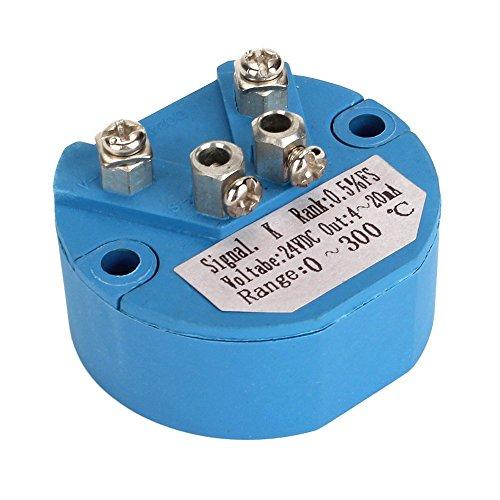 (CNBTR Plastic DC 24V K Type Temperature Sensor Converter Transmitter 0-300℃ 4-20mA Output)