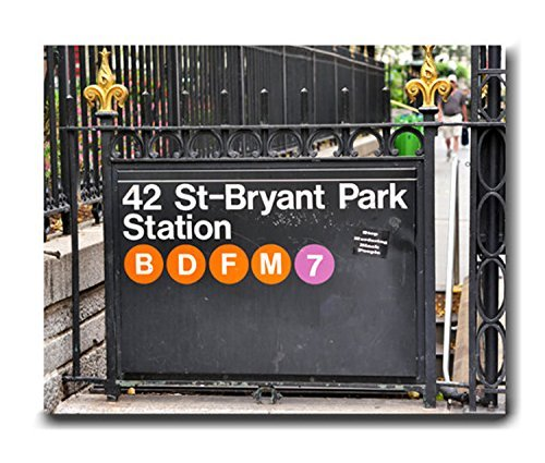 New York Art Print, New York City Subway Sign Bryant Park Station Picture, New York Decor, Large Photography Print from 5x7 to - 7 Bryant Park