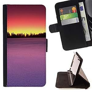 - Sunset Beautiful Nature 85 - - Monedero PU titular de la tarjeta de cr????dito de cuero cubierta de la caja de la bolsa FOR HTC DESIRE 816 RetroCandy