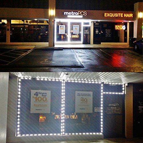 KAPATA 25FT LED Storefront Lights Window Light Kits LED
