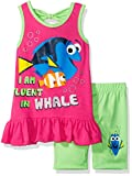 Disney Girls' 2 Piece Finding Dory Bike Short Set