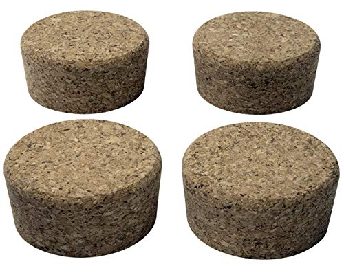 Cork Lids/Stoppers for Mason, Ball, Canning Jars (4 Pack, Regular Mouth)