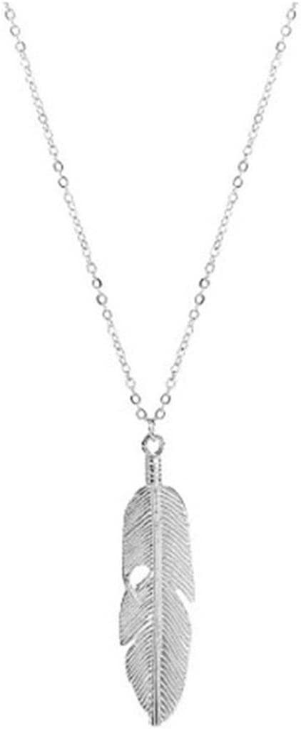 Bohemian Feather Sweater Chain Long Tassel Charm Jewelry Pendants Necklace