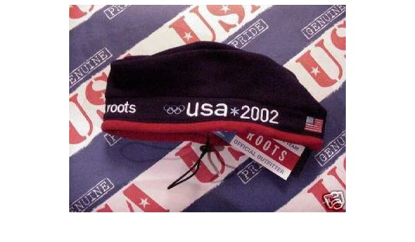 4aee3266bb09 Amazon.com : Winter Olympics USA 2002 Salt Lake City Roots Beret cap :  Sports Related Merchandise : Sports & Outdoors